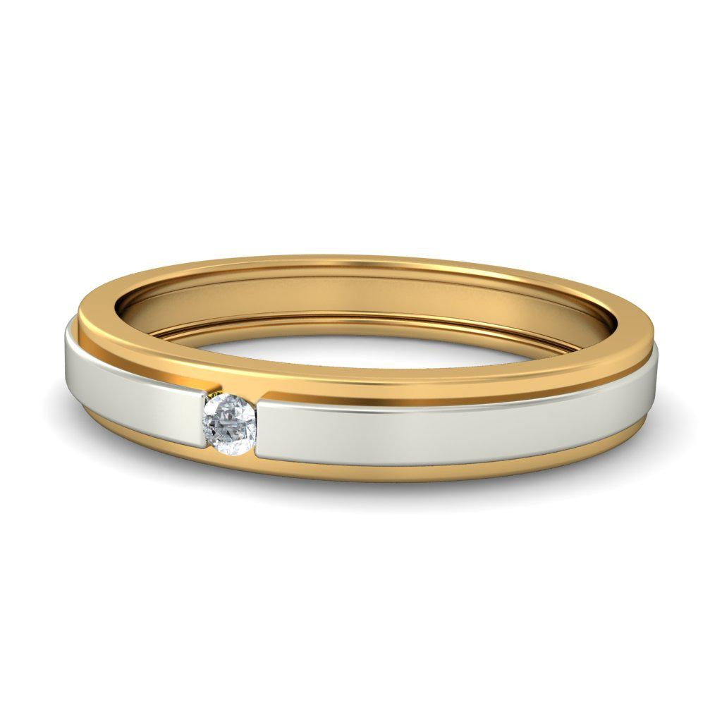 affordable round diamond wedding band in two tone gold two tone wedding band Affordable Round Diamond Wedding Band in Two Tone Gold