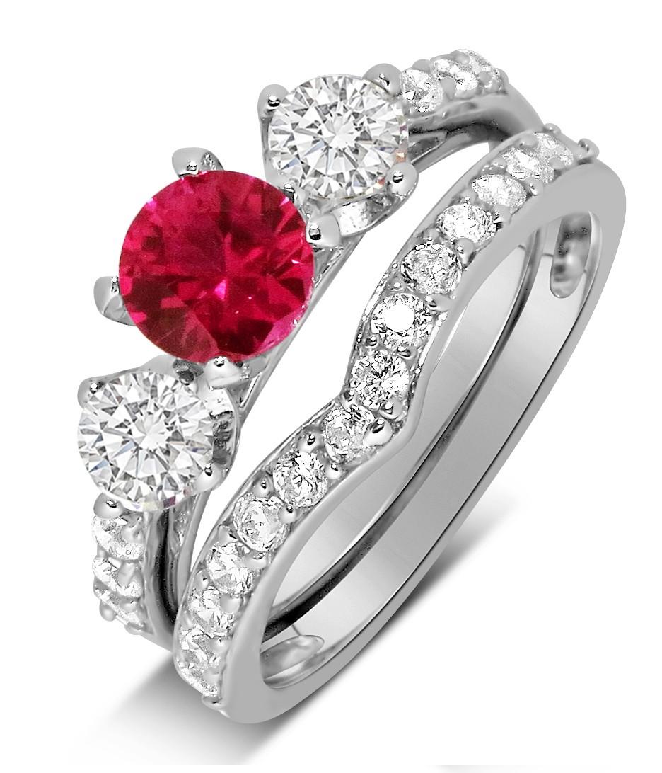 ruby engagement rings ruby wedding rings