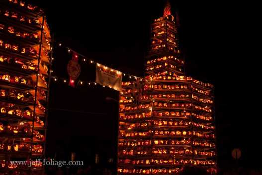 Keene NH pumpkin festival happens in October and they light thousands of pumpkins