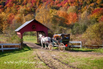 Taking a ride through the fall foliage in Stowe Vermont
