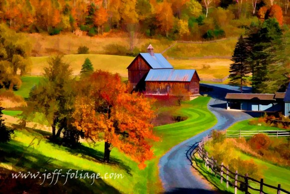 Our Vermont scenic drive takes us past the Gray farm or Sleepy Hollow farm