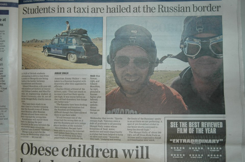 Team Desertaxi featured in the London Evening Standard