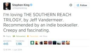 Twitter  StephenKing I'm loving THE SOUTHERN REACH ..