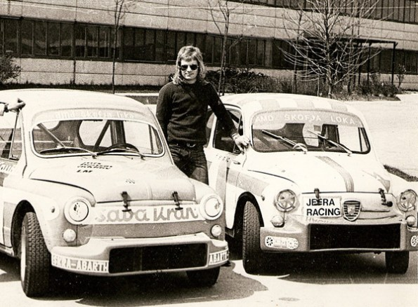 Franc Jerancic with his first Abarth in 1972
