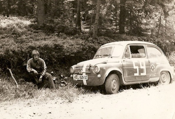 First race with Fiat 600 in 1969