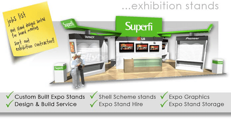 Exhibition stand design, custom built expo stands & events