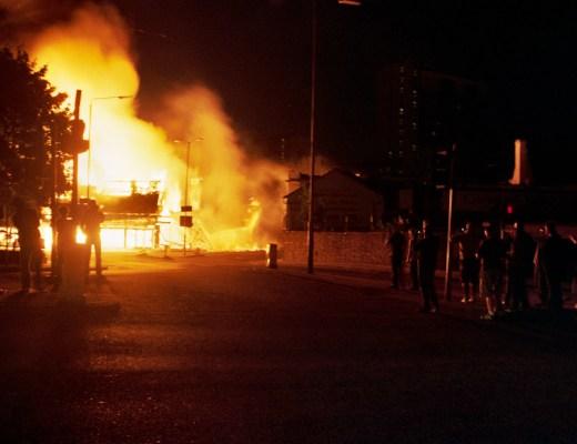 Reeves Corner Ablaze, Croydon, Aug 8, 2011.