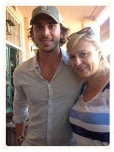 Ben from the Bachelor at his Envolve winery tasting room in Sonoma Plaza.