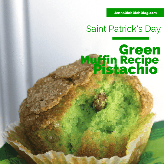 Green Pistachio Saint Patrick's Day Recipe: Green Pistachio Muffin Recipe pistachio muffin