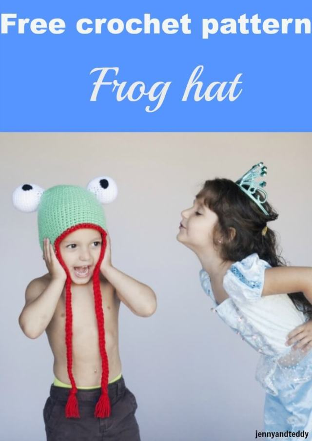 frog hat free crochet pattern by jennyandteddy