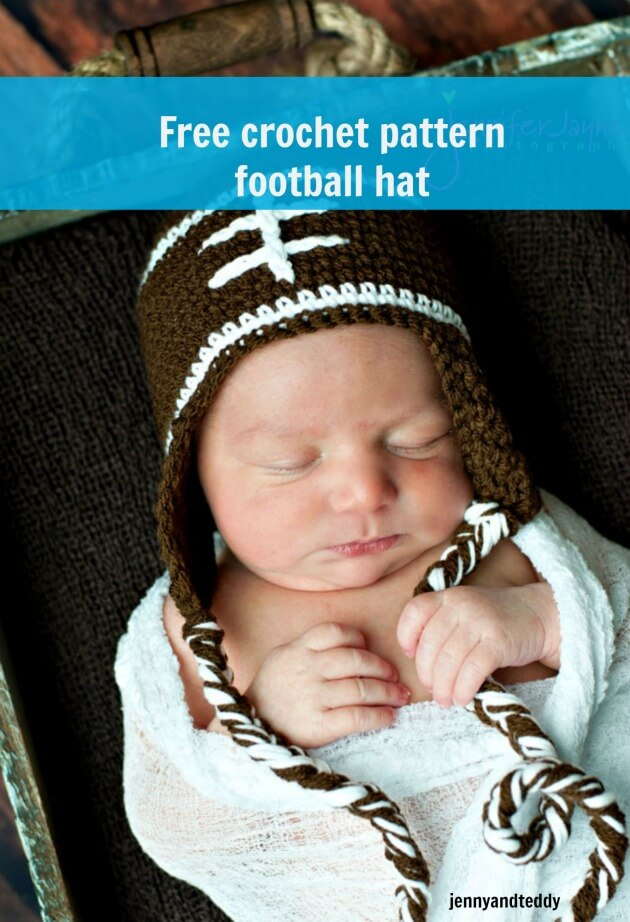 footballl hat free crochet pattern
