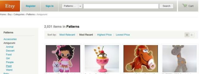 amigurumi are so popular on etsy