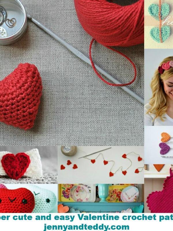 Mini Tutorial Round Up 9 Super Easy Valentines Crochet Patterns