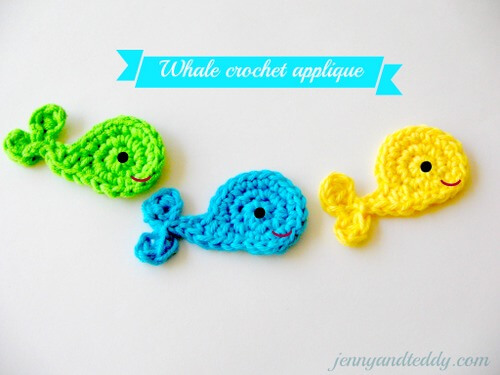 fish crochet applique free pattern