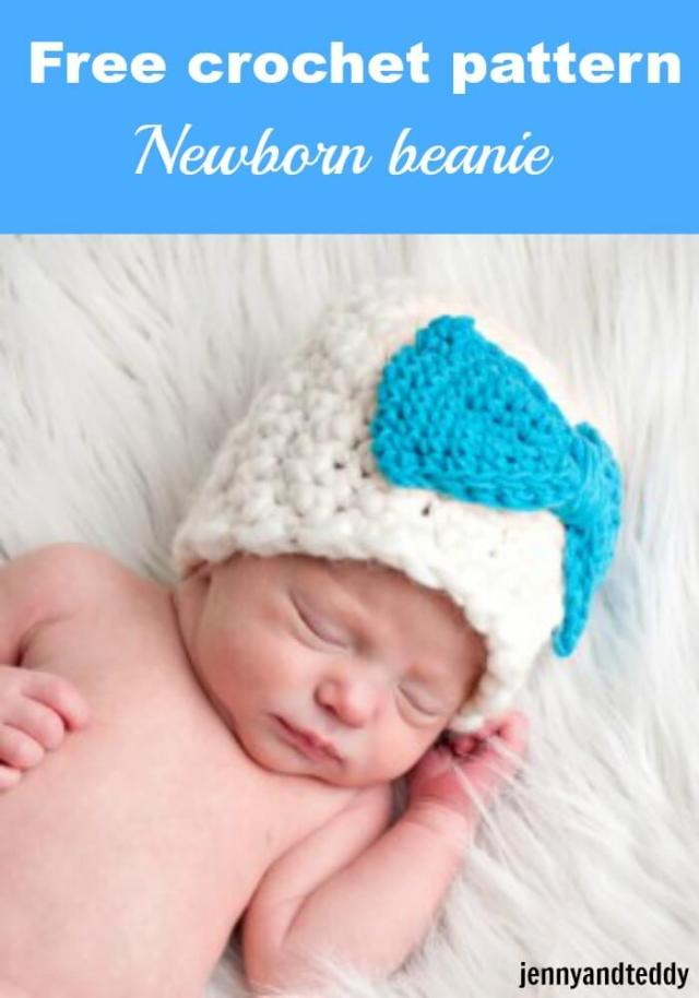 Thick and thin basic beanie crochet hat free pattern