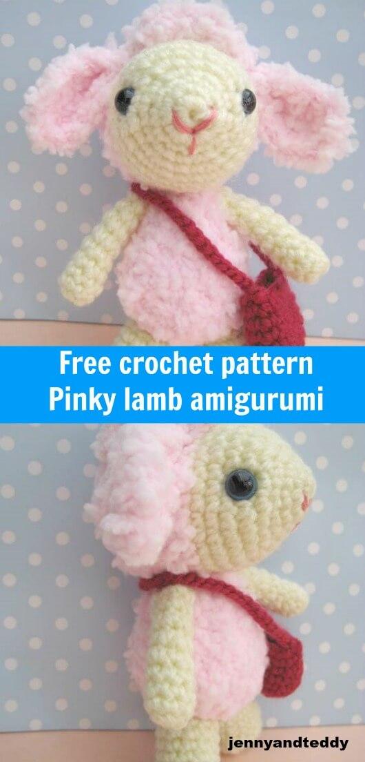 Free Crochet Amigurumi Lamb : Pinky lamb amigurumi-free pattern
