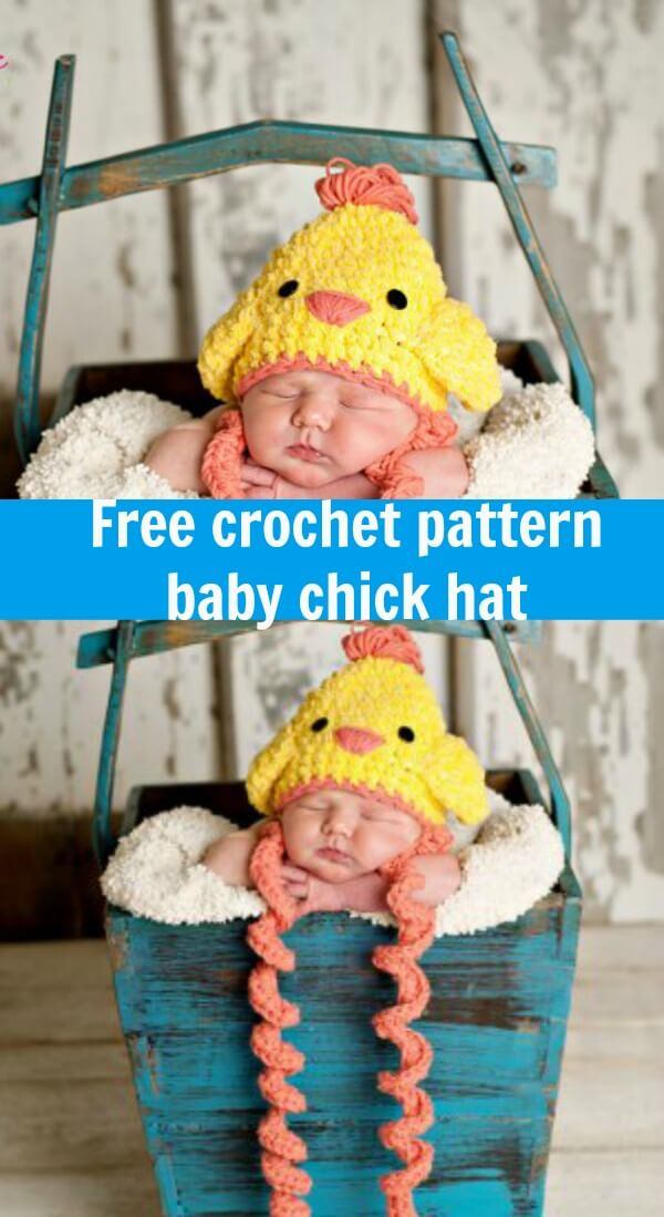 free crochet pattern baby chick hat