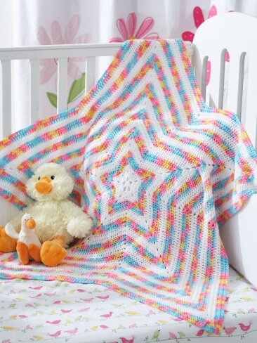 12.how to crochet a baby star blanket free pattern