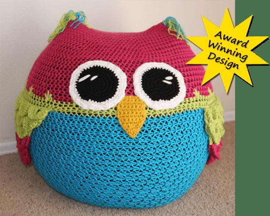 15.owl-bean-bag-chair-crochet-pattern cuchin