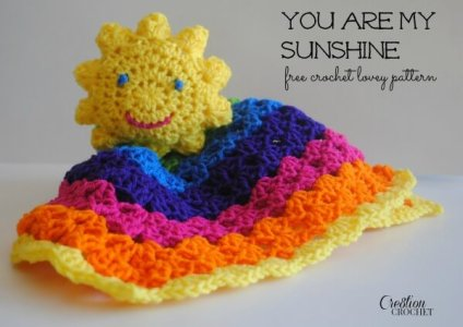 Free Crochet Pattern For You Are My Sunshine Blanket : 20+free easy crochet baby security blanket pattern