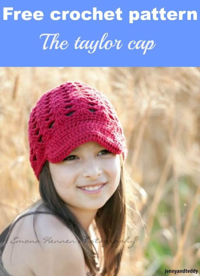 free crochet pattern the taylor cap by jennyandteddy