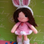 free amigurumi girl doll bunny pattern by jennyandteddy