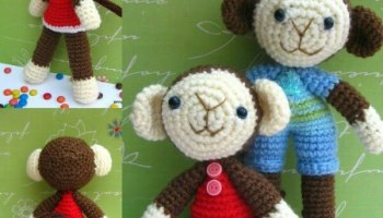 Free Amigurumi Pattern Baby Love : Nicky cheeky monkey amigurumi free crochet pattern