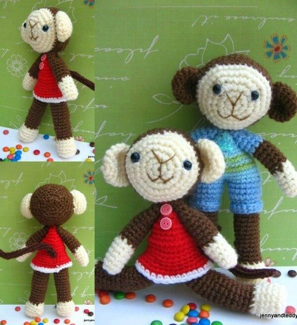 Free Amigurumi Crochet Patterns Monkey : Two Monkey amigurumi-free pattern