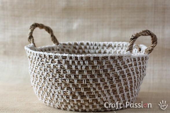 Rope Crochet Basket Free Pattern & 23 free u0026easy crochet baskets patterns