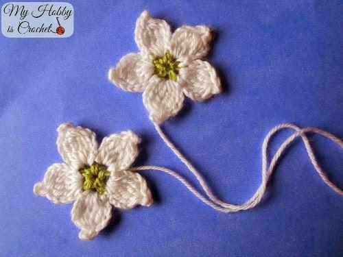34.crochet blackberry flower free pattern