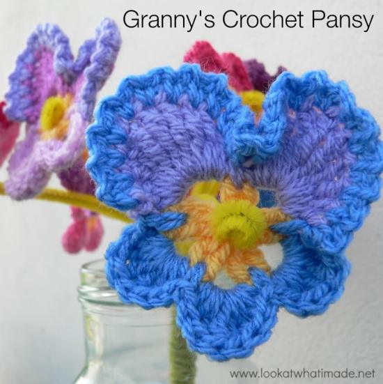 49.flower Grannys-Crochet-Pansy-Pattern