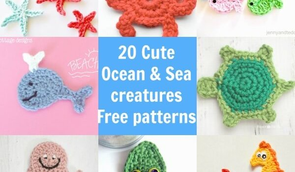Free Crochet Patterns For Sea Animals : A free tutorial site for amigurumi beginners ...