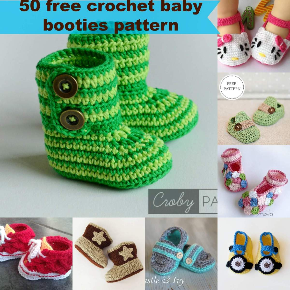 50 free crochet baby booties pattern by jennyandteddygfit12001200 bankloansurffo Image collections