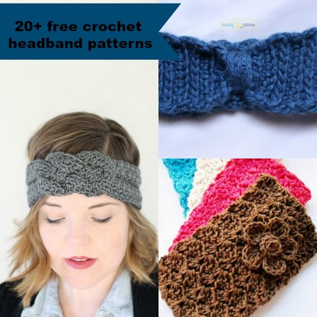 Free Crochet Pattern For Easy Headband : 20+ Free and Easy Crochet Headband Patterns