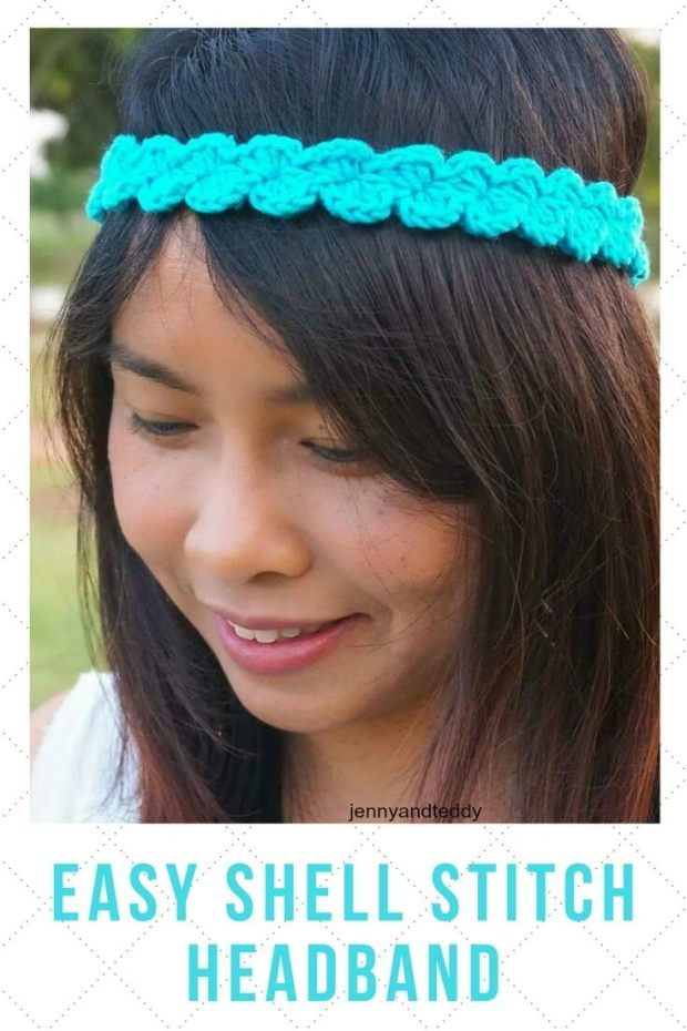 EASY SHELL STITCH HEADBAND free crochet pattern