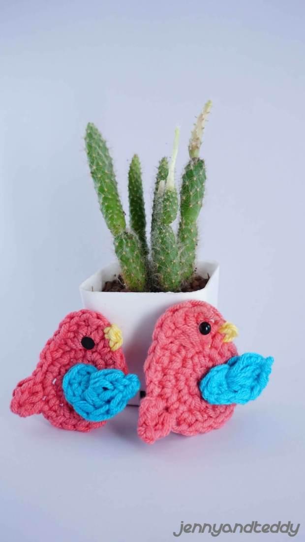 little bird easy free crochet applique pattern