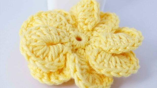 pinwheel crochet flower free pattern