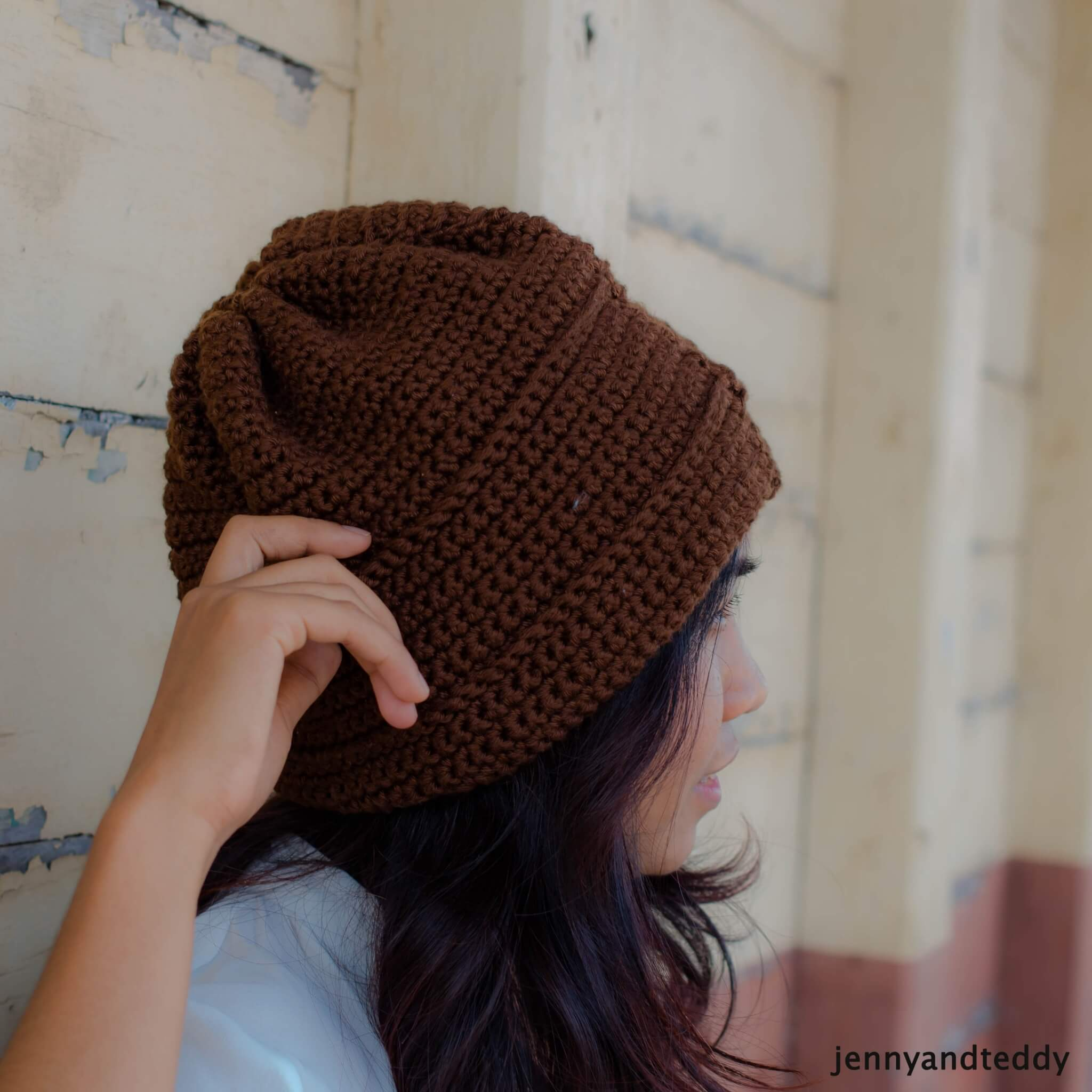 Oh Boy Slouchy Beanie Hat free crochet Pattern for Beginners