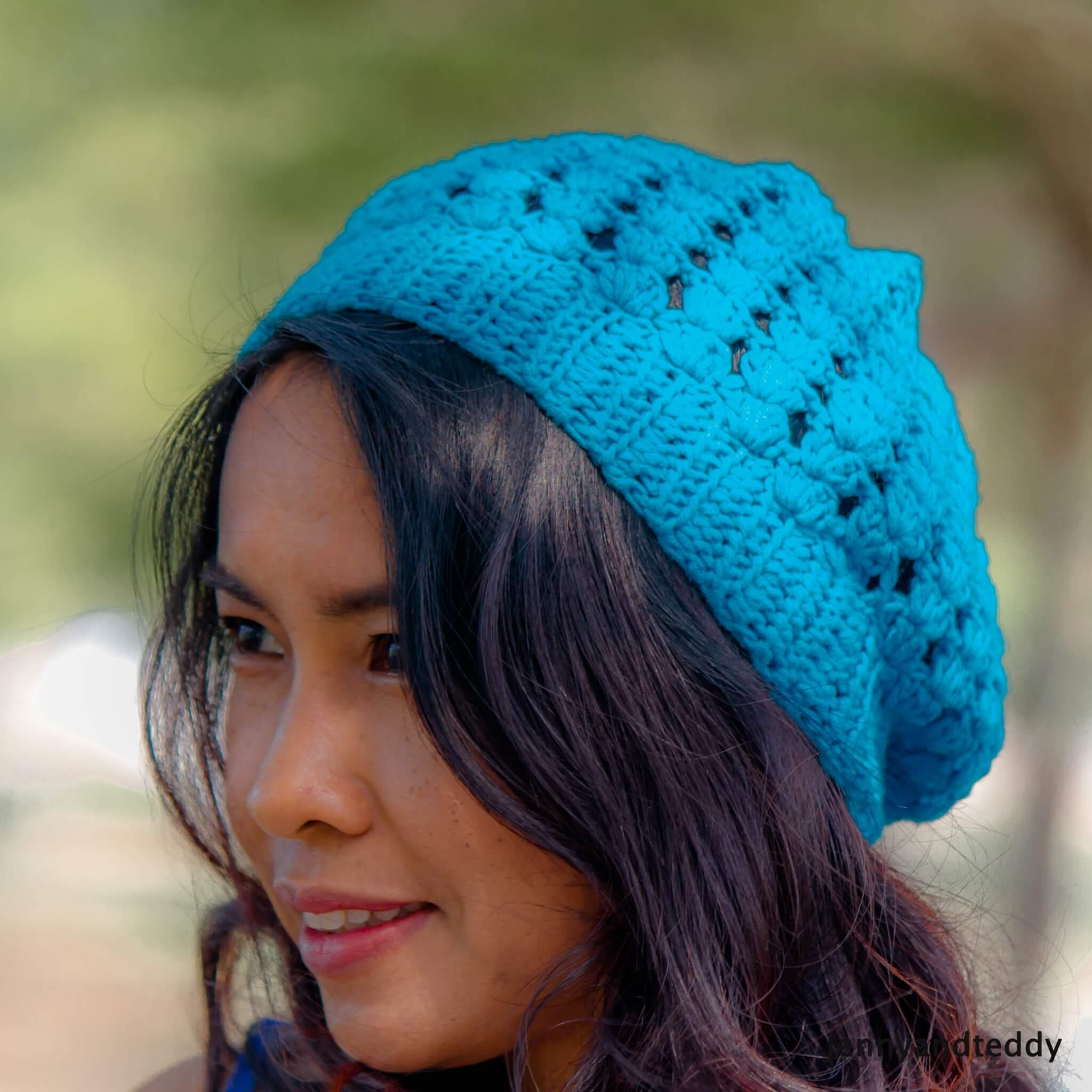 Simple shell stitches slouchy hat free crochet pattern simply shell stitches crochet slouchy hat for beginner tutorial free pattern dt1010fo