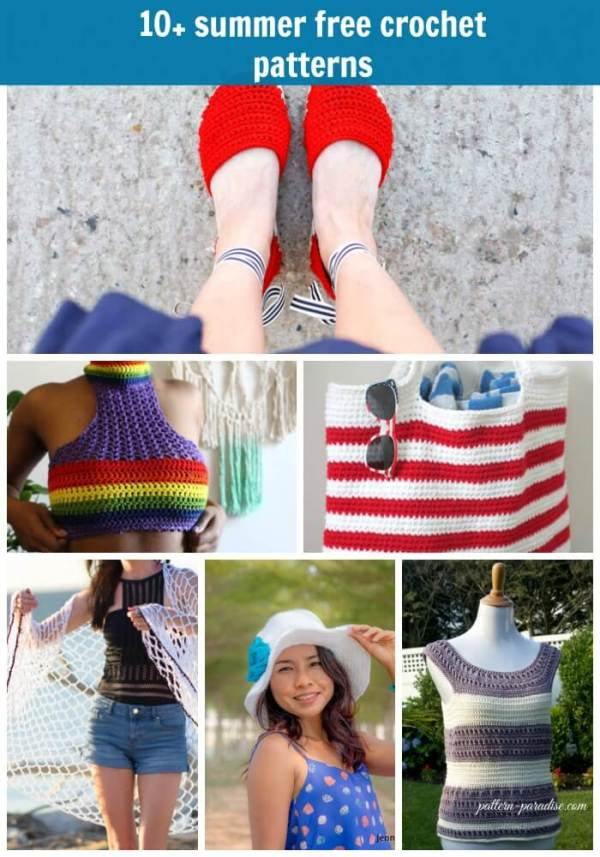 10+ free summer crochet patterns
