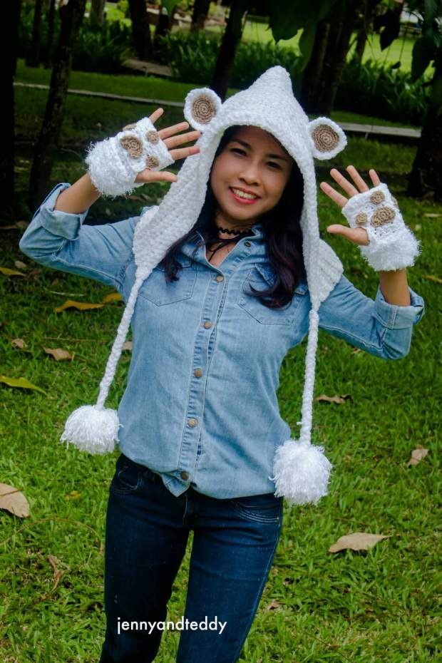 aabsolute beginner crochet hoodie hat teddy bear