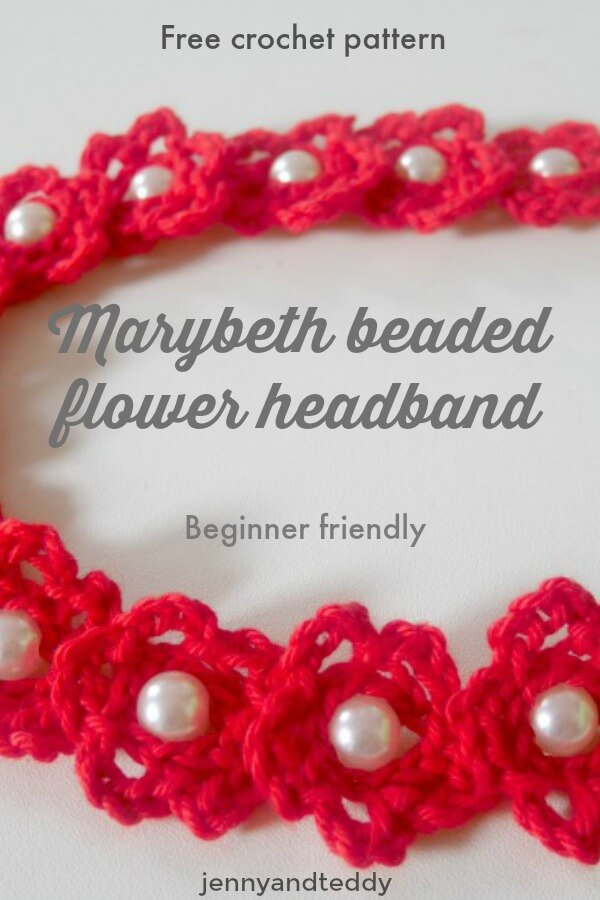 free crochet beaded headband pattern marybeth