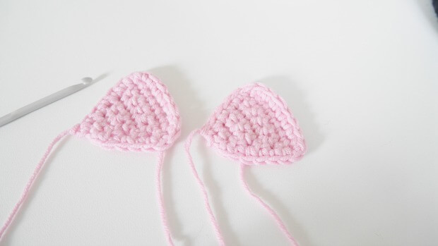 inner cat ear free crochet pattern