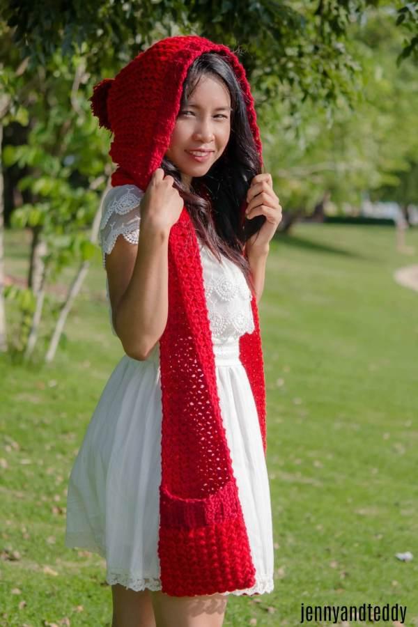 1little red riding hood pocket scarf free crochet pattern1