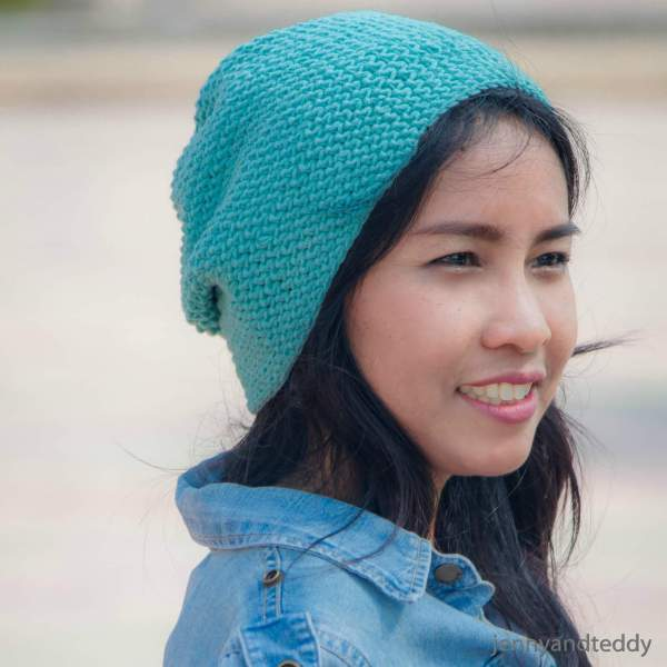 The emily slouch basic beanie hat free crochet pattern