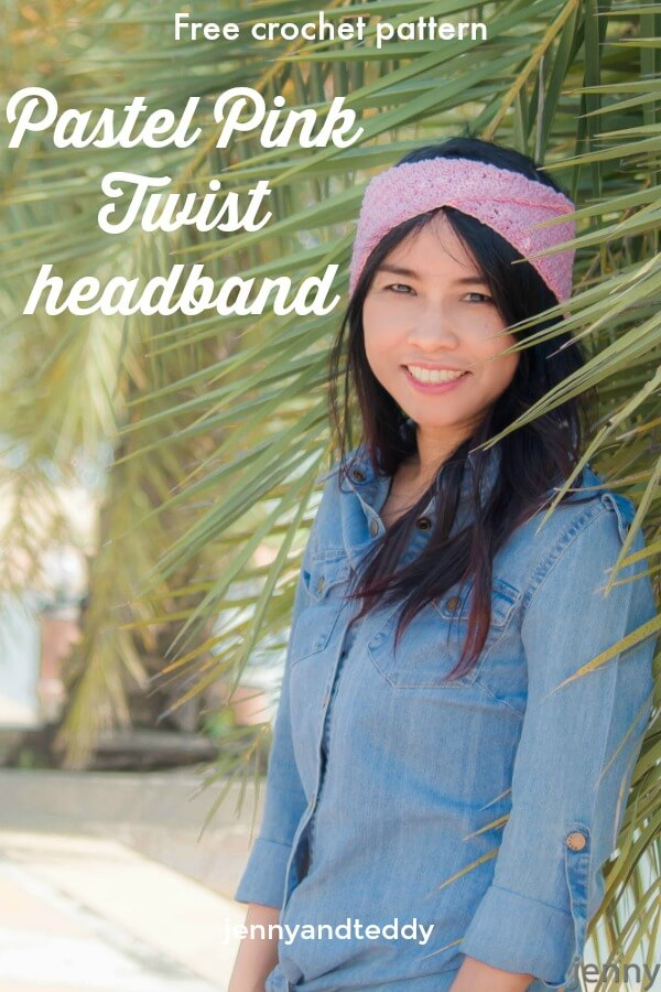 easy twist crochet headband free pattern for beginner