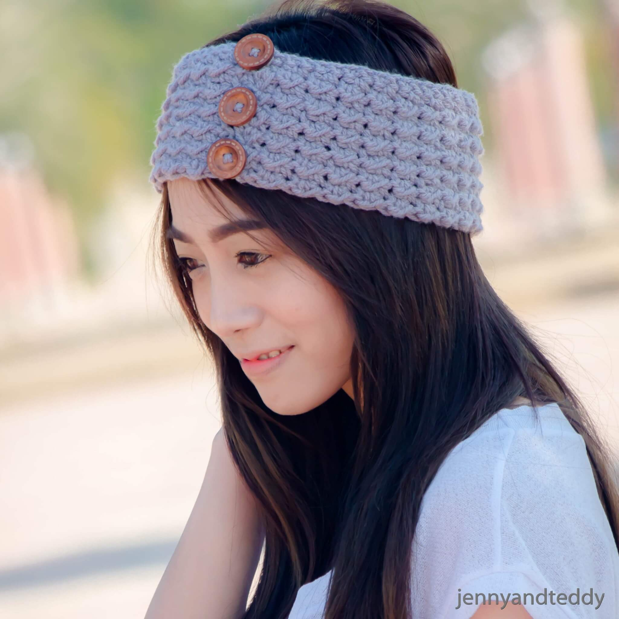 Atlantic headband free crochet pattern