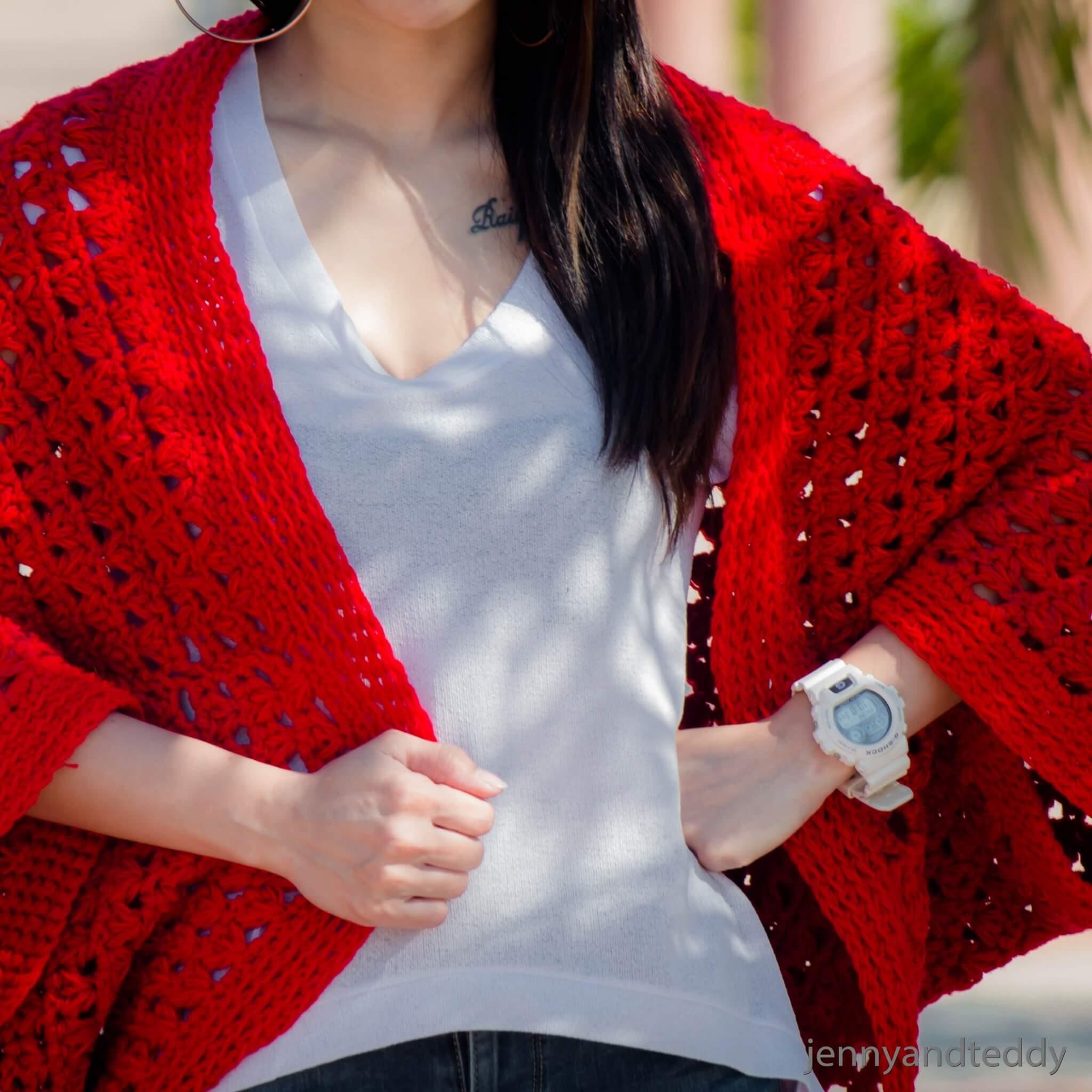 Free Crochet Pattern Cocoon Cardigan Crochet