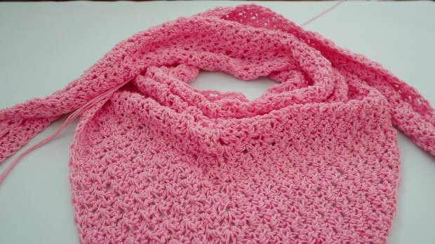The Weekend Triangle Scarf Free Crochet Pattern