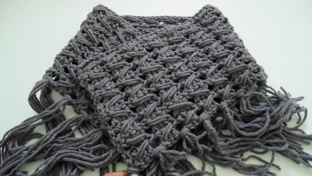 boho chic fringe crochet cowl free pattern easy